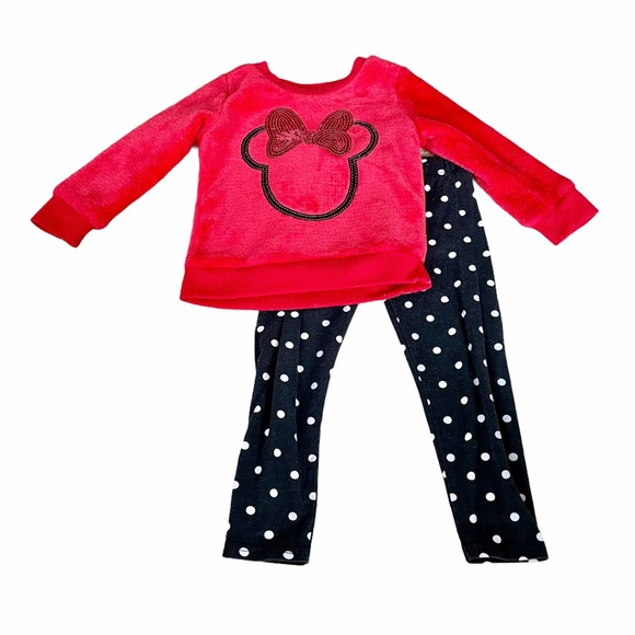 Disney Junior Red Minnie Sweater Outfit